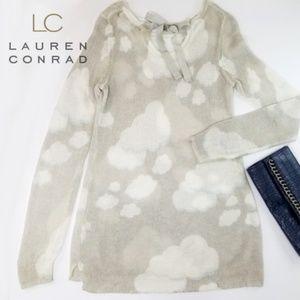 LC Clouds Sweater Tunic M